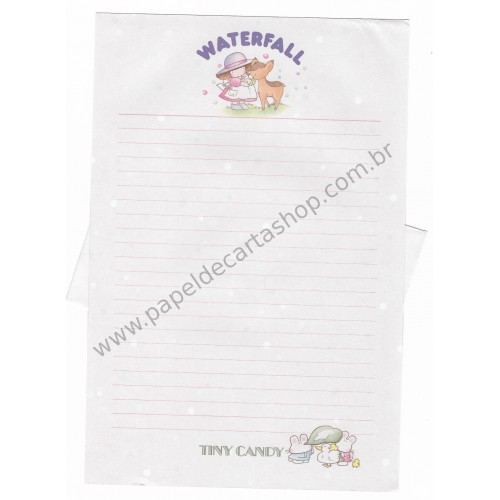 Conjunto de Papel de Carta Vintage Tiny Candy Waterfall CRS Gakken