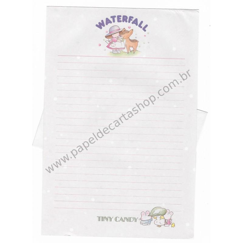 Conjunto de Papel de Carta Vintage Tiny Candy Waterfall CRS Gakken