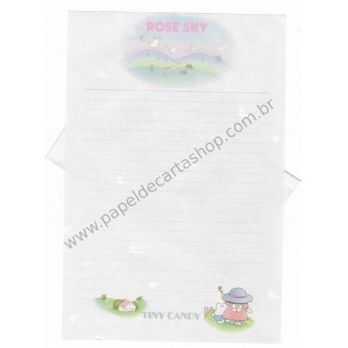 Conjunto de Papel de Carta Vintage Tiny Candy Rose Sky CGR Gakken