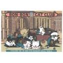 Conjunto de Papel de Carta Antigo (Vintage) Bon Bon Cat BBC Club