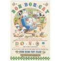 Conjunto de Papel de Carta Antigo (Vintage) Bon Bon Cat Happy Little World