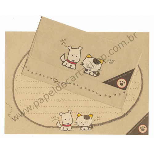 Ano 1984. Conjunto de Papel de Carta Antigo (Vintage) Tama & Friends Kraft - Sony