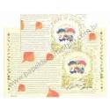 Conjunto de Papel de Carta Antigo (Vintage) Importado - Taiwan