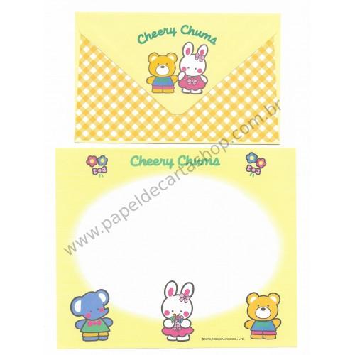 Ano 1995. Conjunto de Papel de Carta Cheery Chums CAM Antigo (Vintage) Sanrio