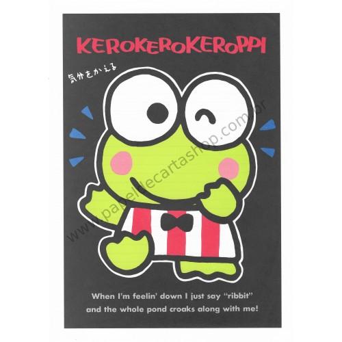 Ano 1989. Papel de Carta Avulso Keroppi CBK2 Vintage Sanrio