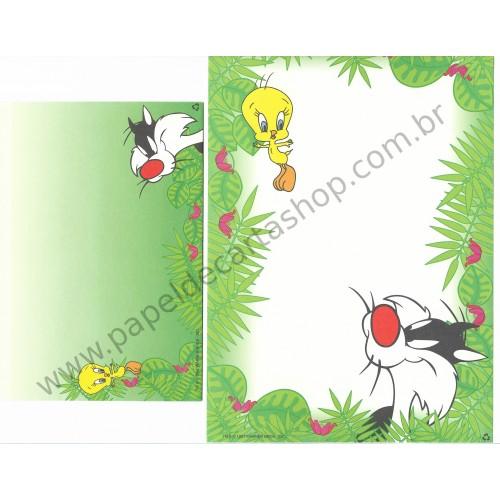 Conjunto de Papel de Carta Antigo Importado Looney Tunes 11
