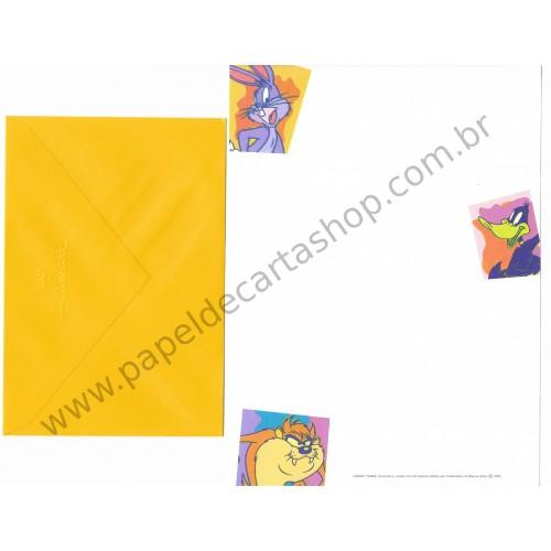 Conjunto de Papel de Carta Antigo Importado Looney Tunes Hallmark