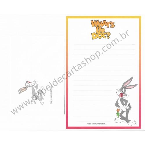 Conjunto de Papel de Carta Antigo Importado Looney Tunes Pernalonga