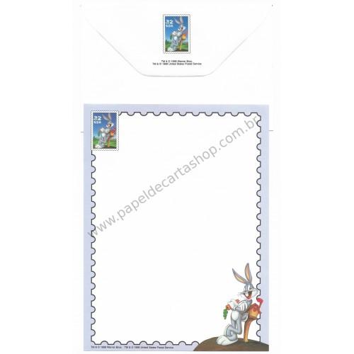 Conjunto de Papel de Carta Antigo Importado Looney Tunes 08