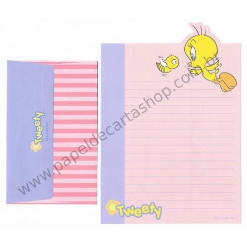 Conjunto de Papel de Carta ANTIGO Looney Tunes 06