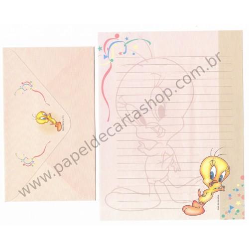 Conjunto de Papel de Carta Antigo Looney Tunes Piu-Piu