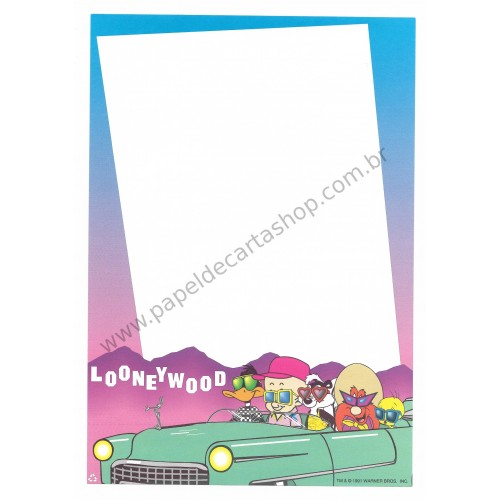 Papel de Carta Antigo Importado Avulso Looney Tunes