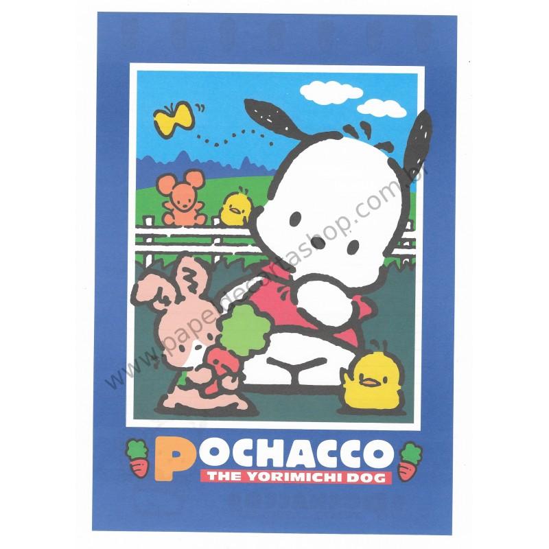 Ano 1997. Conjunto de Papel de Carta Pochacco G Antigo (Vintage) Sanrio