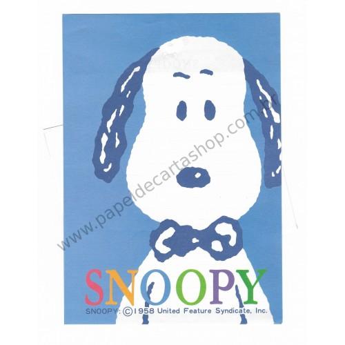 Conjunto de Papel de Carta Snoopy Antigo (Vintage) - Blue - Peanuts