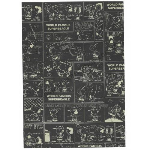 Papel de Carta Avulso Snoopy Baseball Antigo (Vintage) - Peanuts