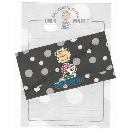 Conjunto de Papel de Carta Snoopy & Woodstock AM Antigo (Vintage) - Peanuts