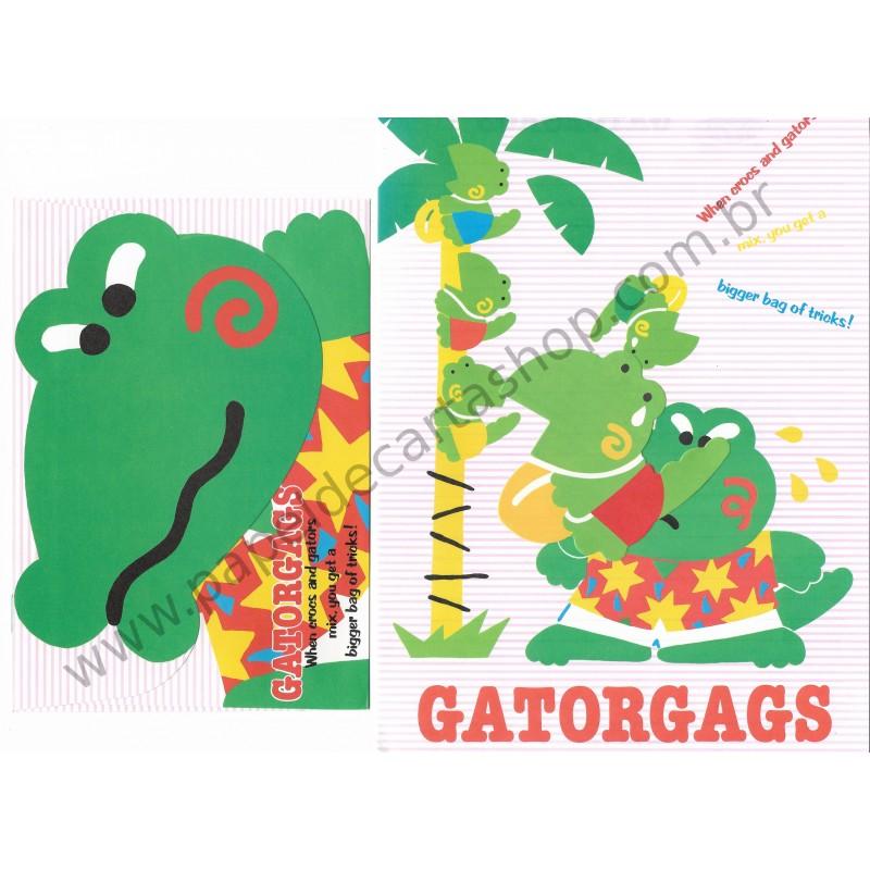 Ano 1989. Conjunto de Papel de Carta Gatorgags Vintage Sanrio