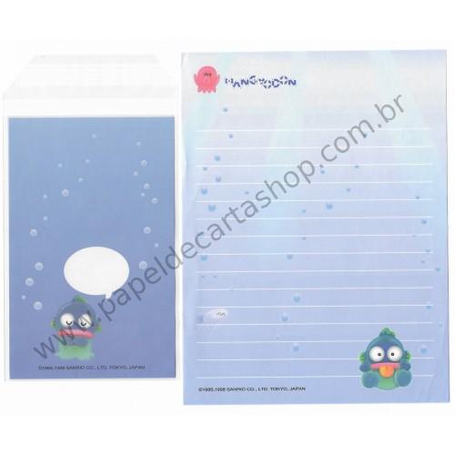 Ano 1998. Conjunto de Papel de Carta Hangyodon Antigo (Vintage) Sanrio