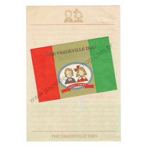 Ano 1983. Conjunto de Papel de Carta Vaudeville Duo Sanrio