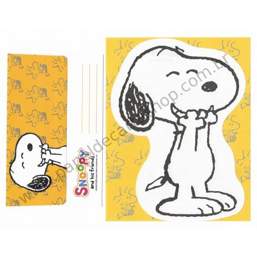 Conjunto de Papel de Carta Snoopy VM Antigo (Vintage) - Peanuts Hallmark