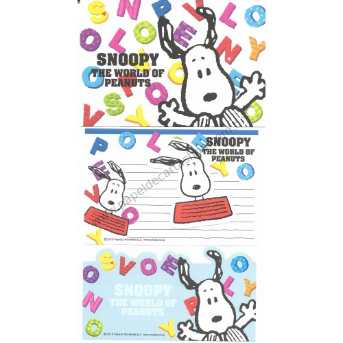 Conjunto de Papel de Carta The World of Peanuts Hallmark