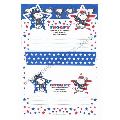 Conjunto de Papel de Carta Snoopy Magic Antigo (Vintage) - Peanuts