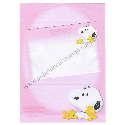 Conjunto de Papel de Carta Snoopy G Rosa Peanuts