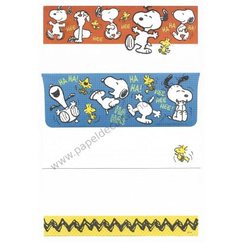 Conjunto de Papel de Carta Snoopy Ha Ha Ha Peanuts UFC