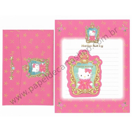 Ano 2000. Conjunto de Papel de Carta Hello Kitty - 26th Anniversary