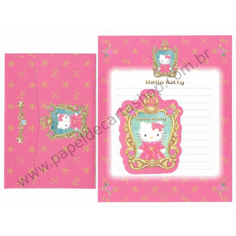 Ano 2000. Conjunto de Papel de Carta Hello Kitty - 26th Anniversary