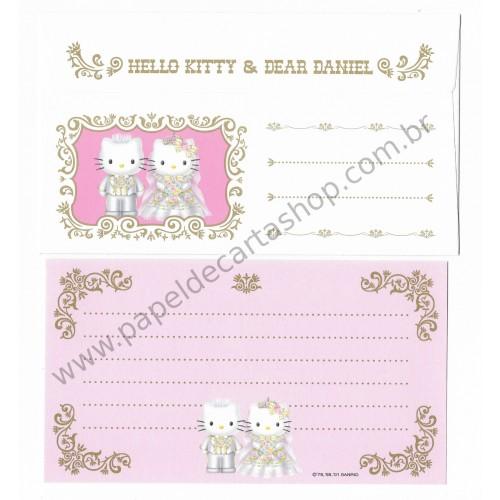 Ano 2001. Conjunto de Papel de Carta Hello Kitty & Dear Daniel Wedding Invitation Sanrio
