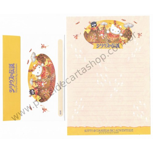 Ano 2001. Conjunto de Papel de Carta Hello Kitty & Dear Daniel's Big Adventure CAM Sanrio