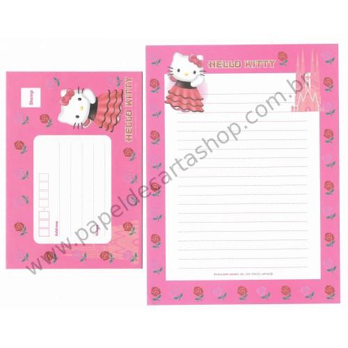 Ano 2000. Conjunto de Papel de Carta Hello Kitty Espanha F2 Sanrio