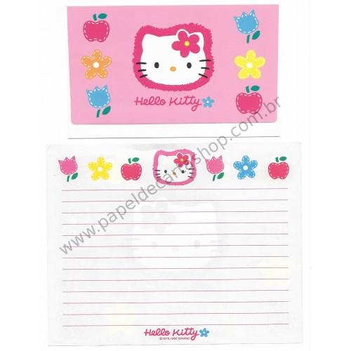 Ano 1995. Conjunto de Papel de Carta Hello Kitty Antigo (Vintage) Sanrio