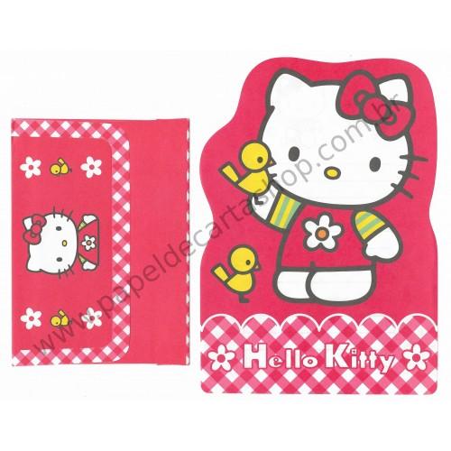 Ano 1999. Conjunto de Papel de Carta Hello Kitty Antigo Bird (Vintage) Sanrio