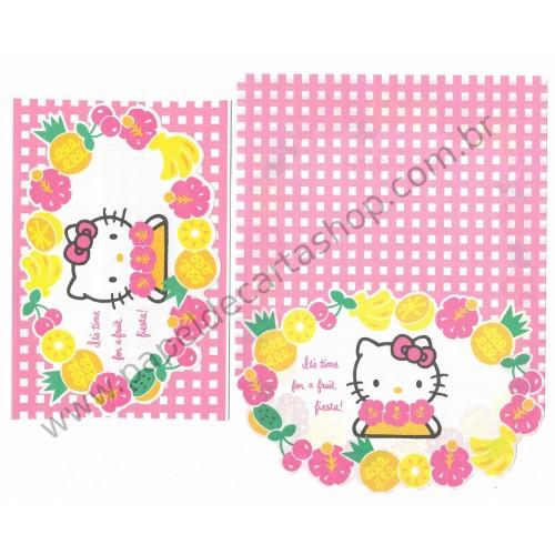 Ano 1994. Conjunto de Papel de Carta Hello Kitty Antigo (Vintage) Sanrio