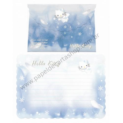 Ano 2003. Conjunto de Papel de Carta Hello Kitty Angel Sanrio