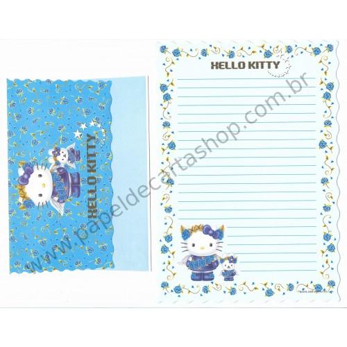 Ano 2001. Conjunto de Papel de Carta Hello Kitty AZ Sanrio