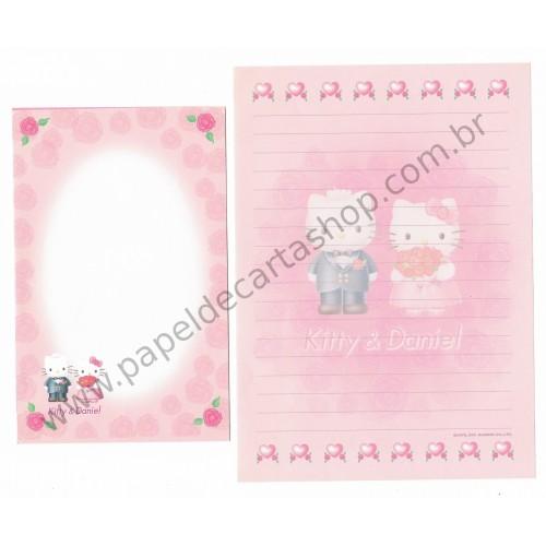 Ano 2001. Conjunto de Papel de Carta Hello Kitty & Daniel Sanrio