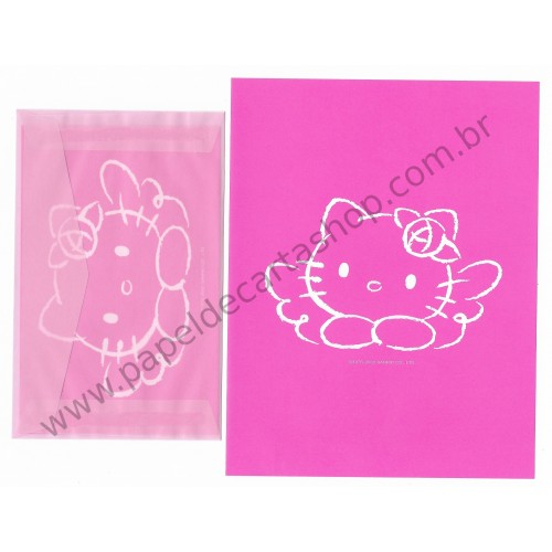 Ano 2002. Conjunto de Papel de Carta Hello Kitty CRS Sanrio