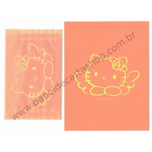 Ano 2002. Conjunto de Papel de Carta Hello Kitty CLA Sanrio