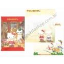 Ano 2002. Conjunto de Papel de Carta Hello Kitty Regional Japão P Dupla Sanrio