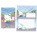Ano 2003. Conjunto de Papel de Carta Hello Kitty Lavender Sanrio