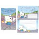 Ano 2003. Conjunto de Papel de Carta Hello Kitty Regional Lavender Sanrio