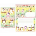 Ano 2003. Conjunto de Papel de Carta Hello Kitty Regional Hokkaido AM Sanrio
