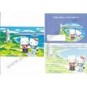 Ano 2003. Conjunto de Papel de Carta Hello Kitty & Dear Daniel AZ Sanrio