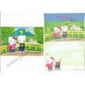 Ano 2003. Conjunto de Papel de Carta Hello Kitty & Dear Daniel Daiwa Royal Hotel Sanrio