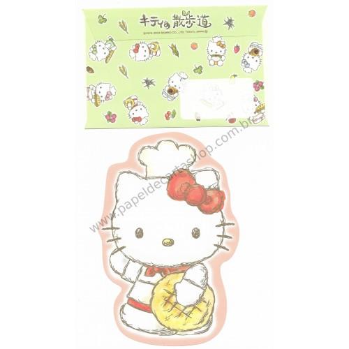 Ano 2003. Conjunto de Papel de Carta Hello Kitty Regional Japão - Baking RS Sanrio