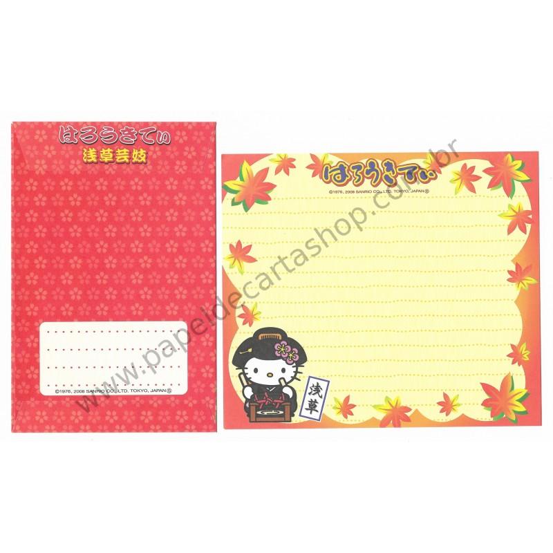Ano 2008. Conjunto de Papel de Carta Hello Kitty Regional AM - Sanrio