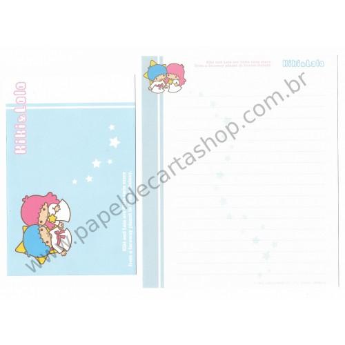 Ano 2003. Conjunto de Papel de Carta Kiki & Lala Dream Galaxy AZ1 Sanrio